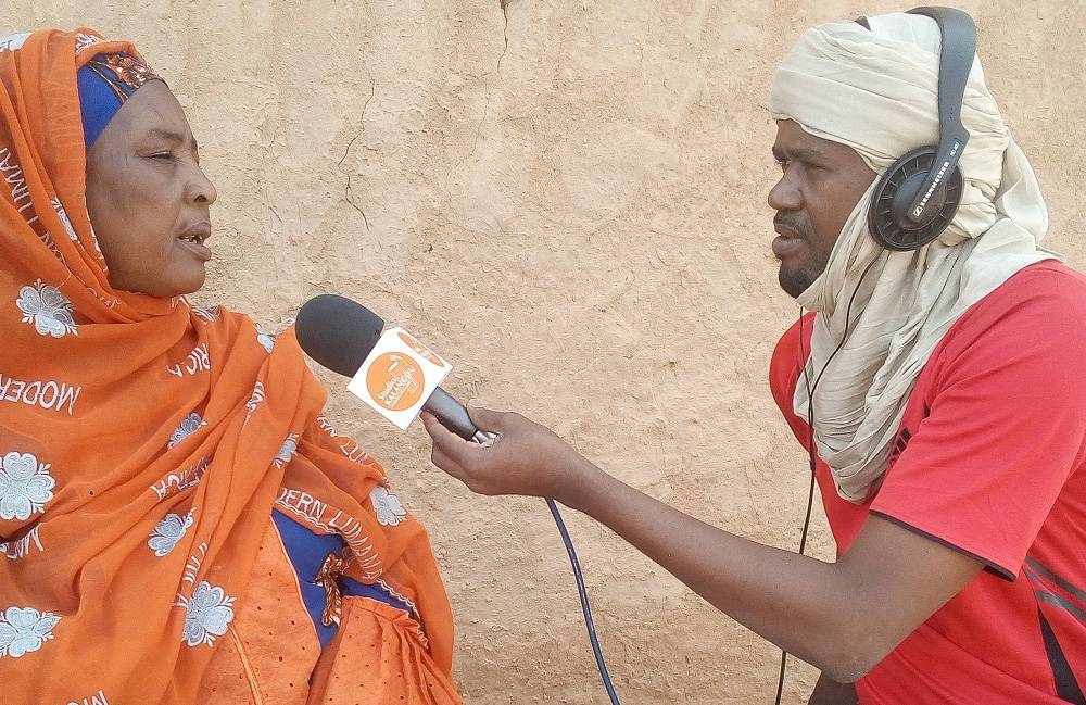 Mrs Chami Ahmed, President of the Federation of the Arlit Women's Group, in an interview with Alhassane Kouzi Mahamadou