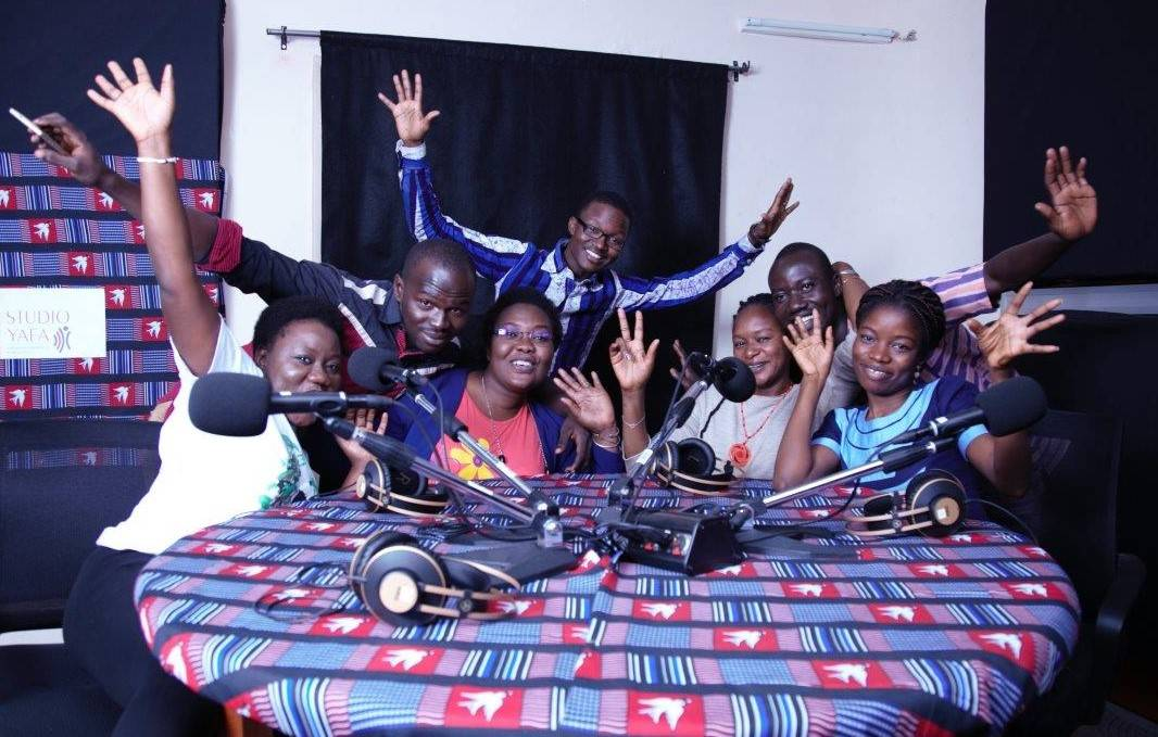 Young journalists from Studio Yafa during their training in Ouagadougou in January 2019.