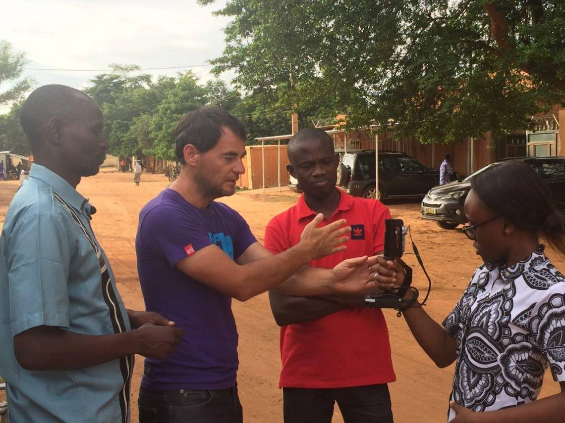 Pendant la formation à la couverture journalistique du changement climatique à Niamey, Niger, du 13 au 18 août 2018.
