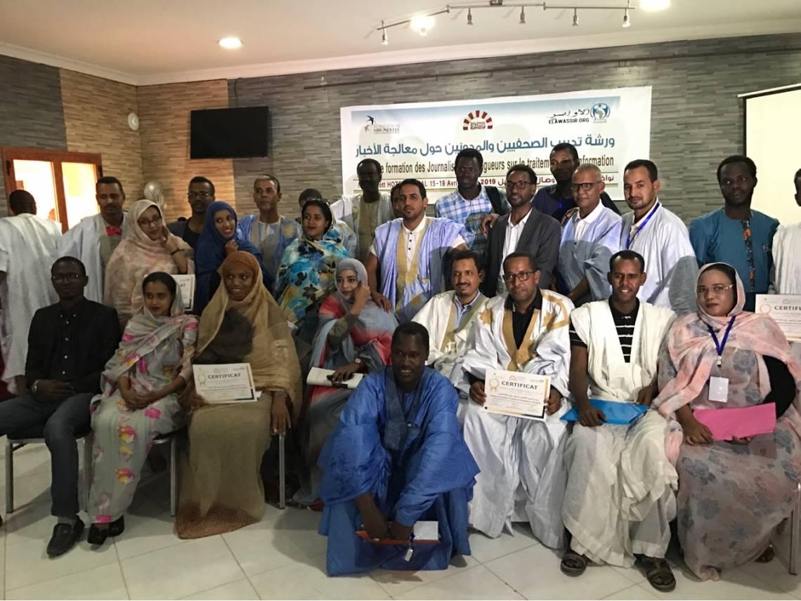 L'équipe des journalistes à l'issue de la formation à Nouakchott