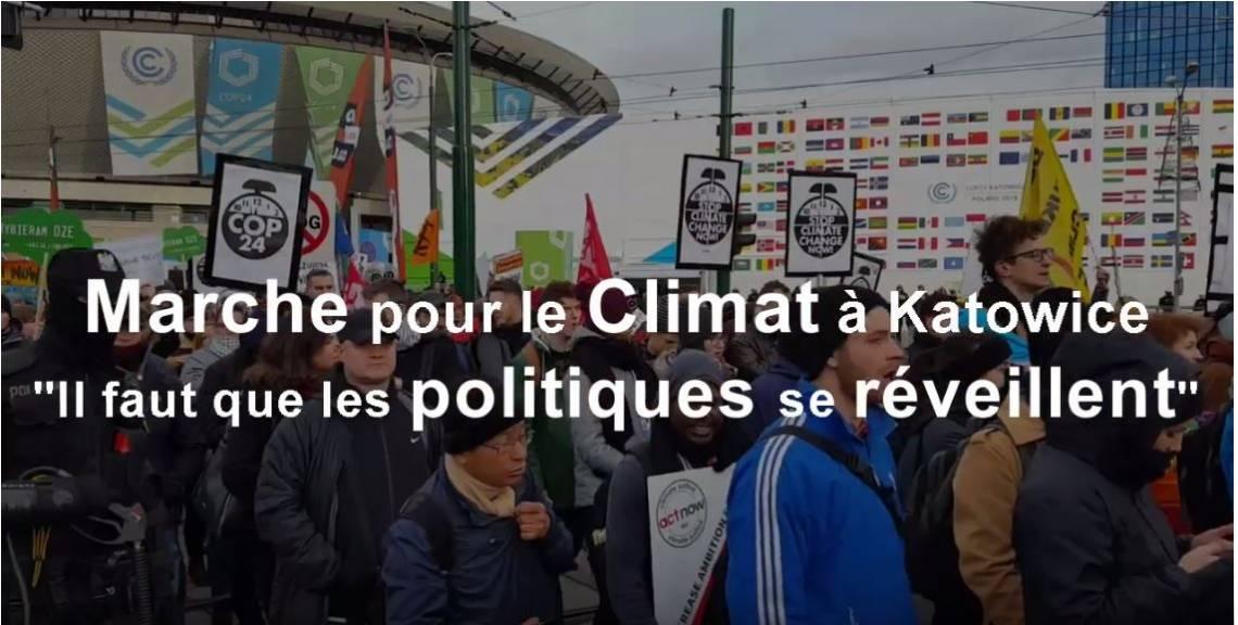 Marche pour le climat à Katowice