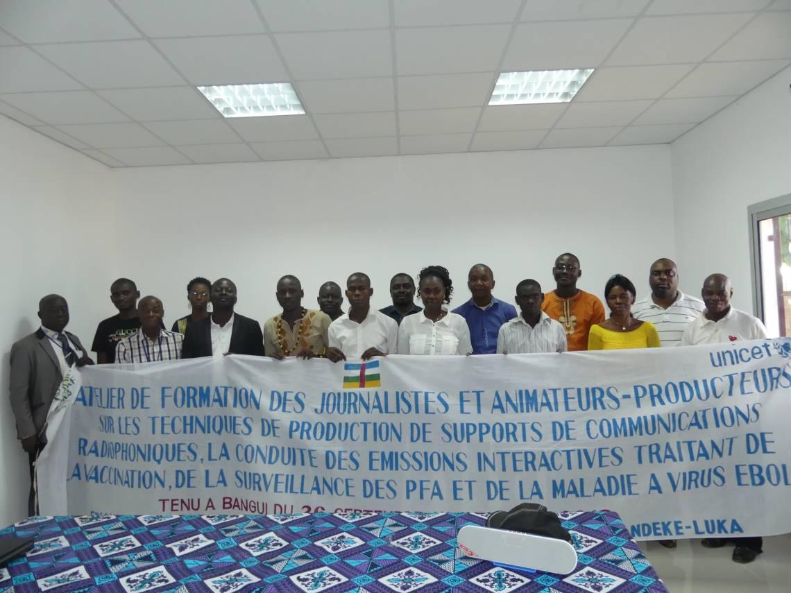 Les participants à la formation à Bangui.