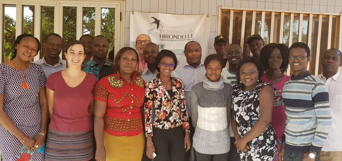 The Studio Yafa team, in Ouagadougou, Burkina Faso, in January 2019.