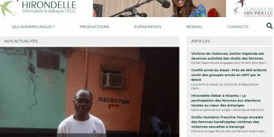 Lancement du site web du Studio Hirondelle RDC