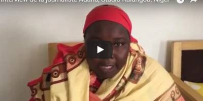 Interview of the journalist Adana, Studio Kalangou, Niger