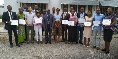 Eleven journalists trained by Fondation Hirondelle on radio production in Kananga