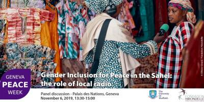 Our conference at the Geneva Peace Week on the role of local radio for gender inclusion in the Sahel