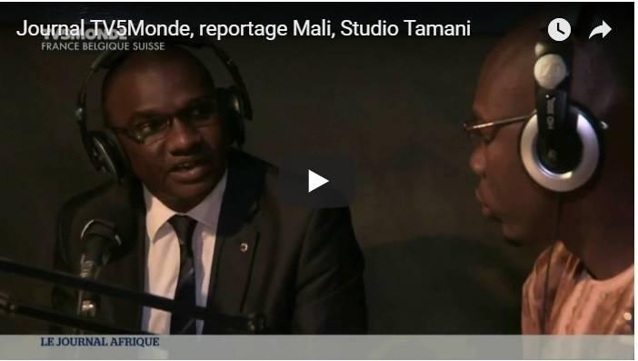 Reportage de TV5Monde sur Studio Tamani au Mali