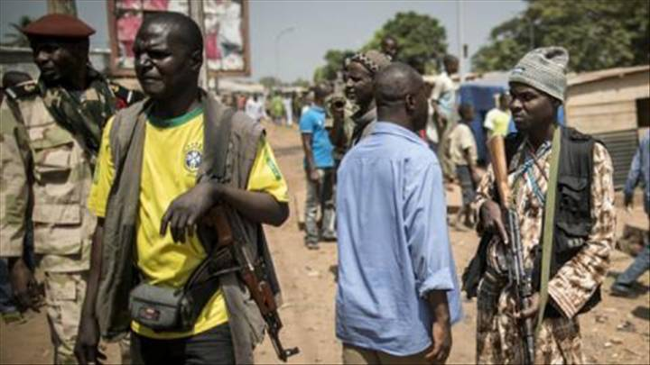 La ville de Kaga Bandoro sous l'emprise des rebelles de la Séléka en août 2017