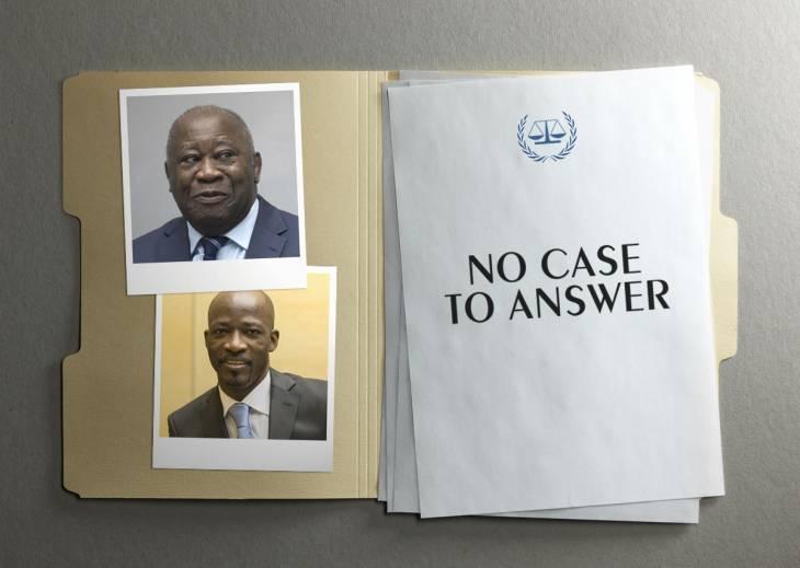 En janvier 2019, la demande de « no case to answer » (que l'on peut traduire en français par « aucune réponse à donner ») déposée par Laurent Gbagbo et Charles Blé Goudé donnait lieu à un retrait des charges sans nécessiter de présenter les arguments de la défense.