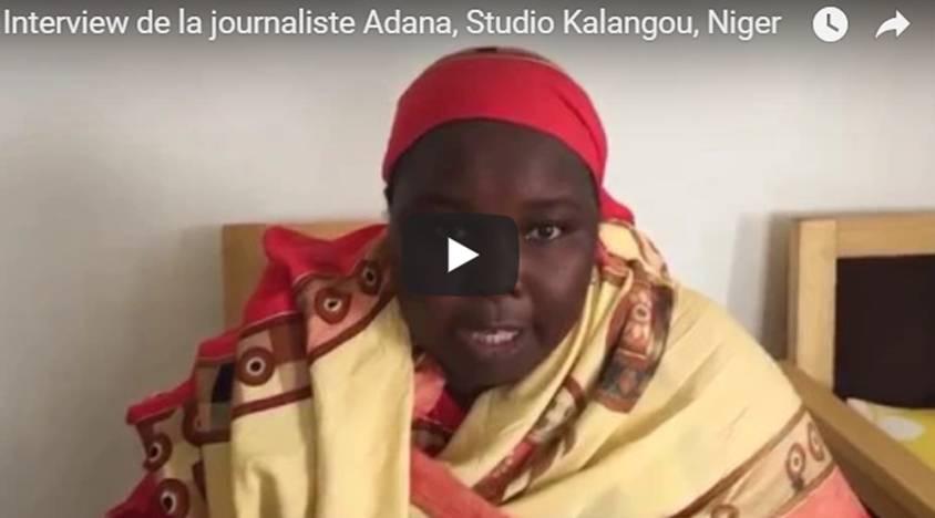 Interview de la journaliste Adana, Studio Kalangou, Niger